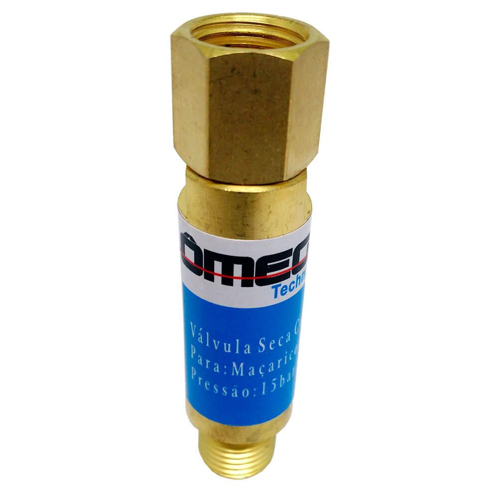 Válvula Corta Fogo para Maçarico Oxigênio Ômega