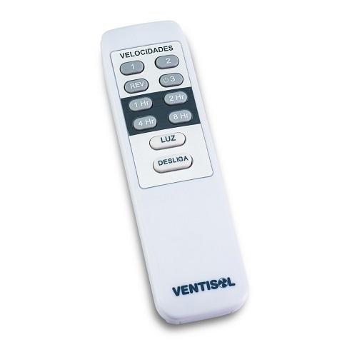 Ventilador de Teto Fenix Branco com Controle Remoto Ventisol
