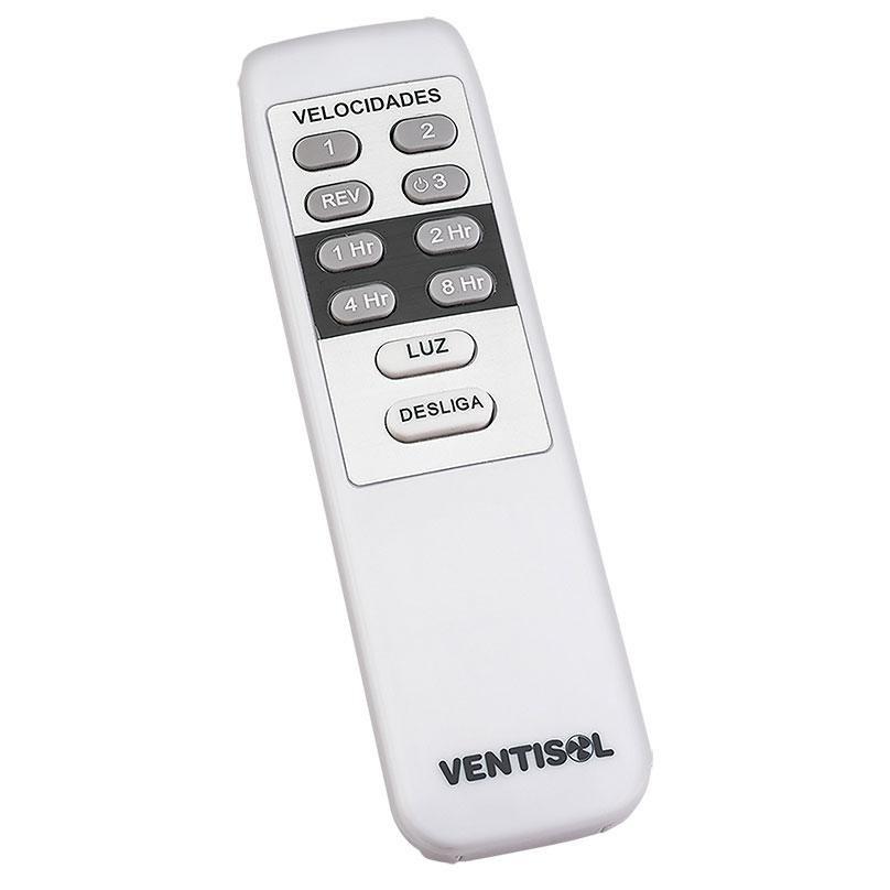 Ventilador de Teto Flow Branco com Controle Remoto Ventisol
