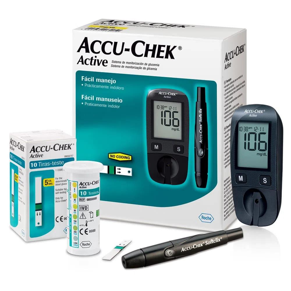 Kit Accuchek Active Pglicemia Roche Novo