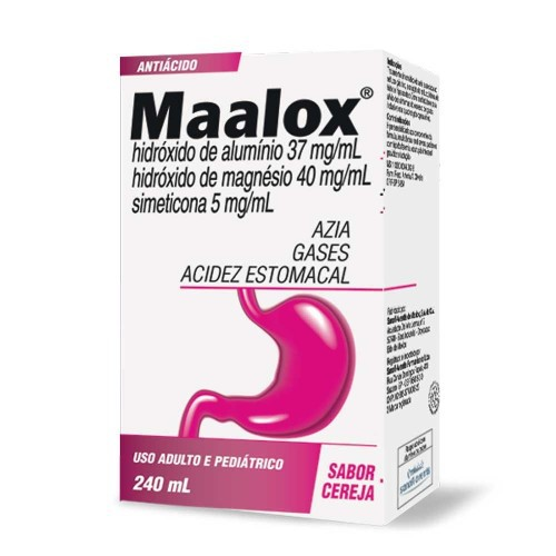 Maalox Plus (C/30 Cp Mastigavel) Cereja