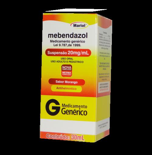 MEBENDAZOL 20MG SUSP 30ML MDL-GENERICO