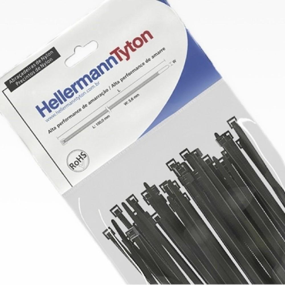 Abraçadeira de Nylon Hellermann Tyton T50R 200mm X 4,6mm - 100 unidades