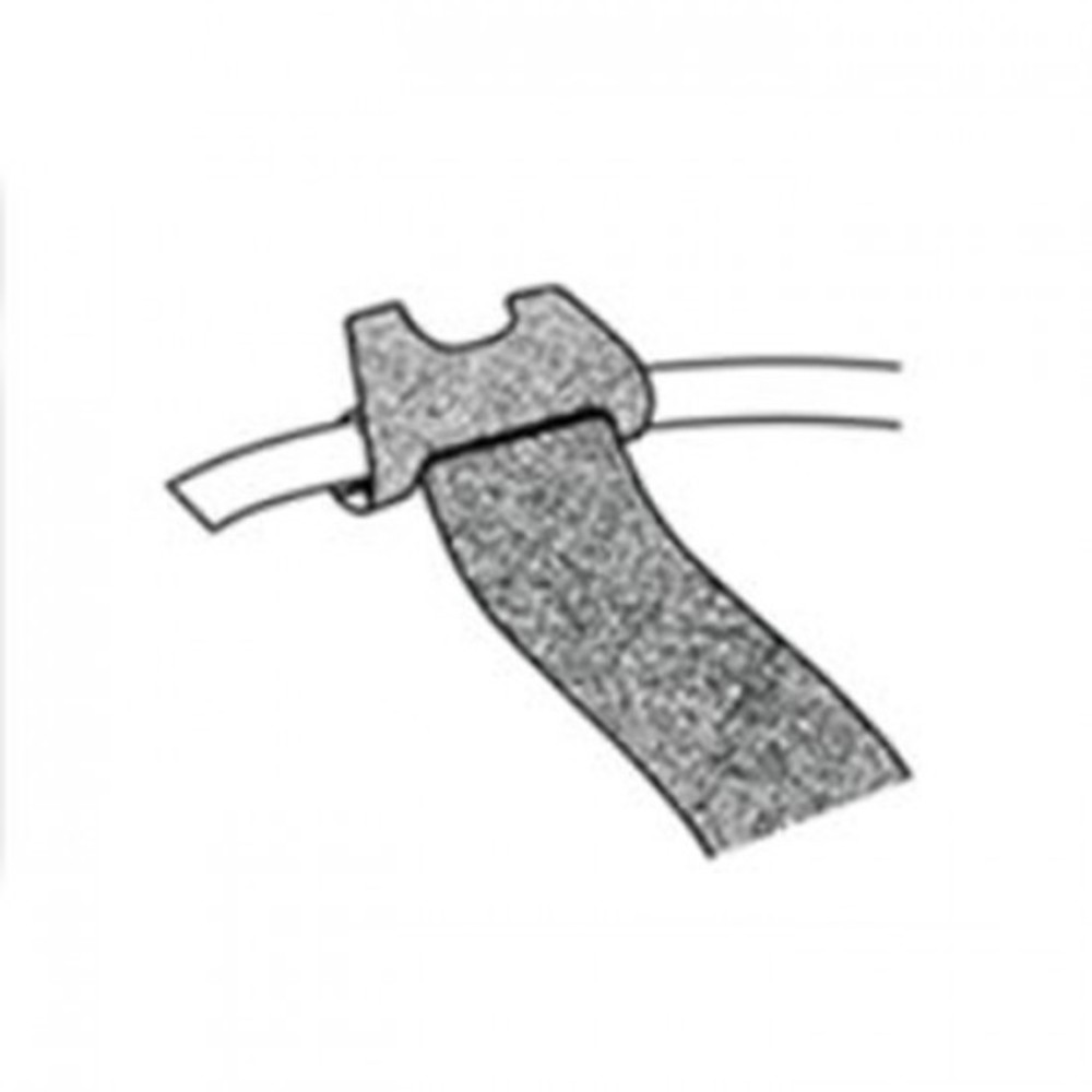 Abraçadeira para Cabos Velcro One-Wrap® 15cm Preto - Kit com 10