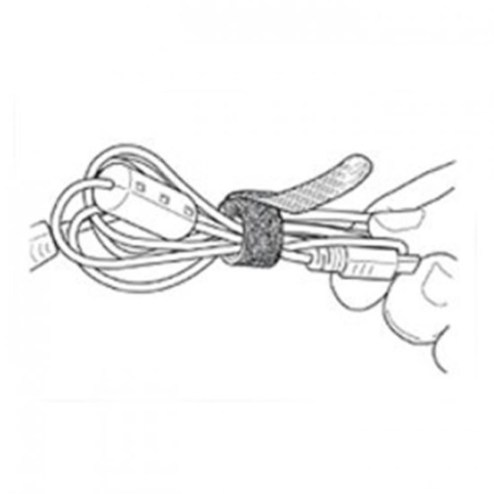 Abraçadeira para Cabos Velcro One-Wrap® 20cm Preto - Kit com 10