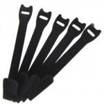 Abraçadeira para Cabos Velcro One-Wrap® 30cm Preto - Kit com 10