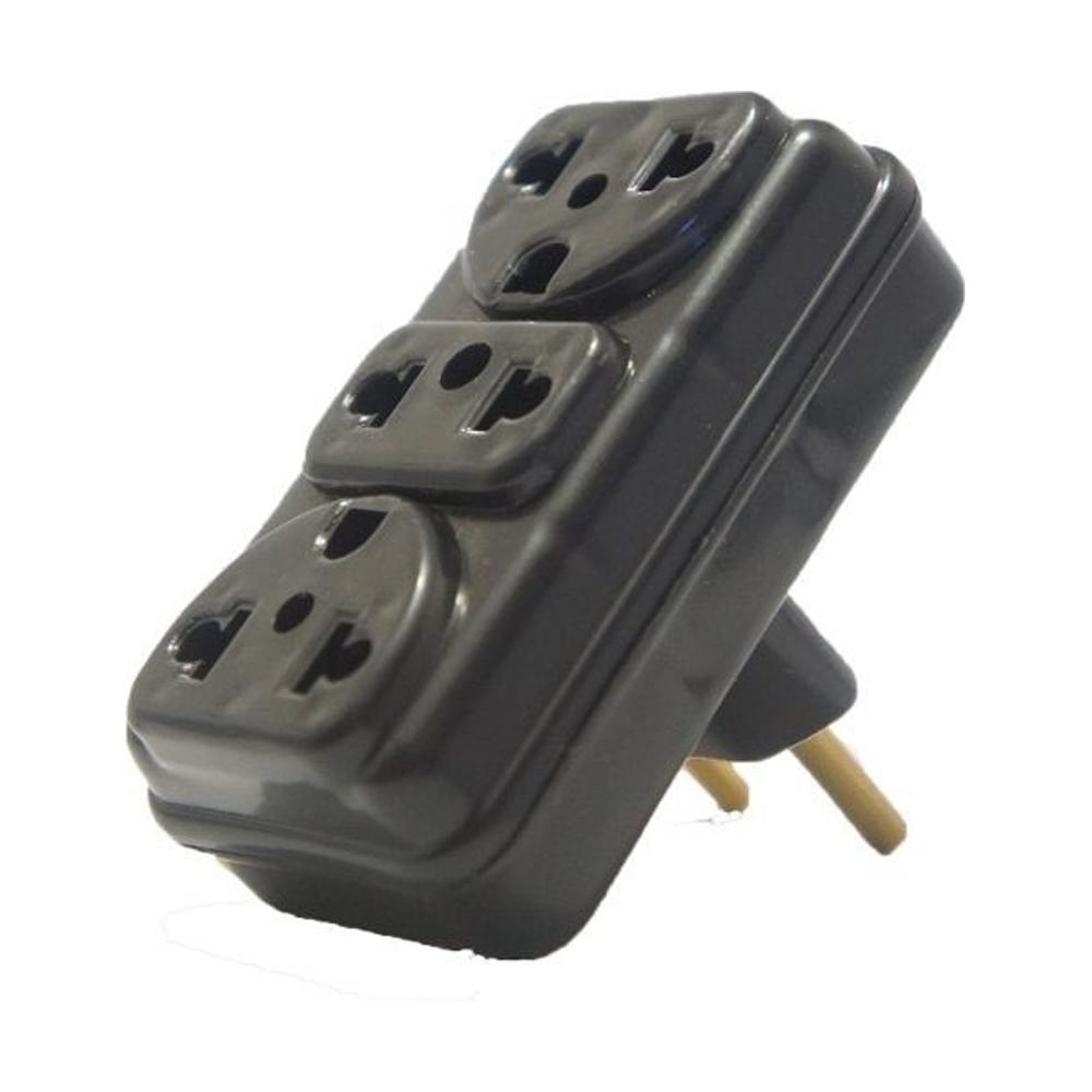 Adaptador de Tomada 2P para 3 Saídas Eletroplas