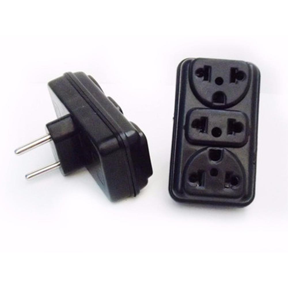 Adaptador de Tomada 2P para 3 Saídas Eletroplas  - Casa do Roadie