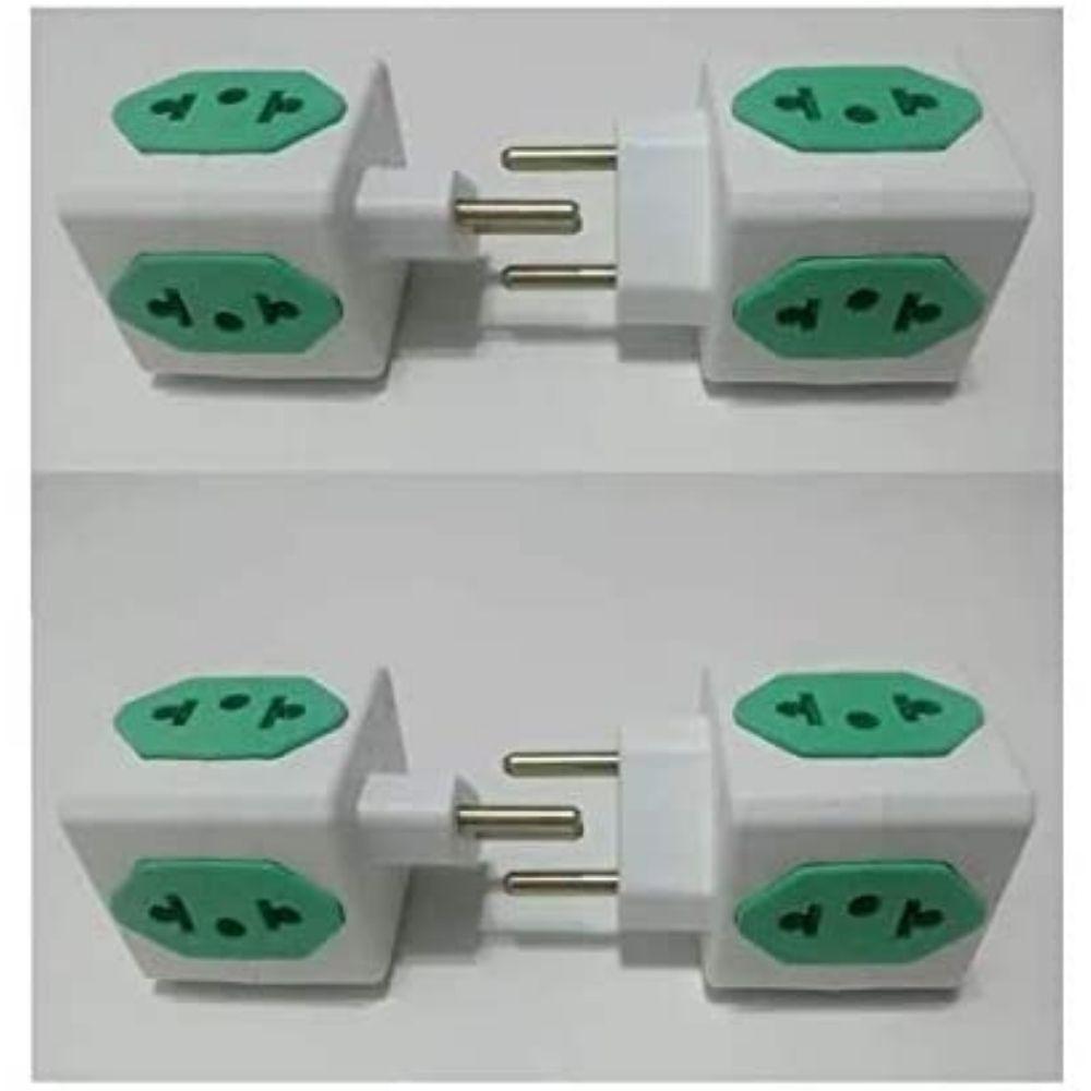 Adaptador de tomada 2p para 4 saídas tipo cubo  - Casa do Roadie
