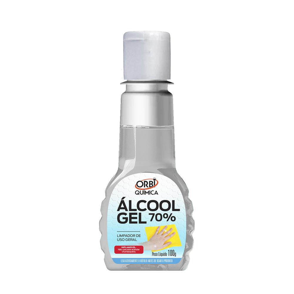 Álcool em Gel Solução 70% Orbi 100g