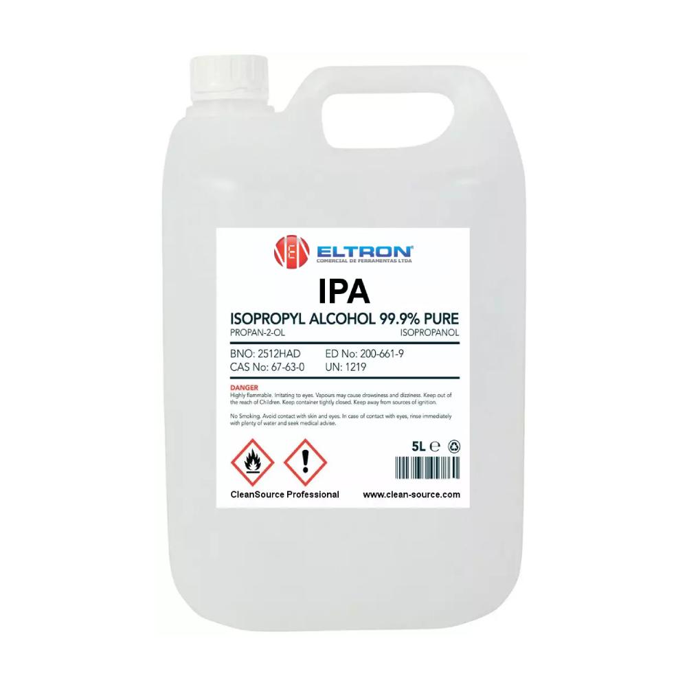 Álcool Isopropílico 99,96% Galão 5 Litros Statron