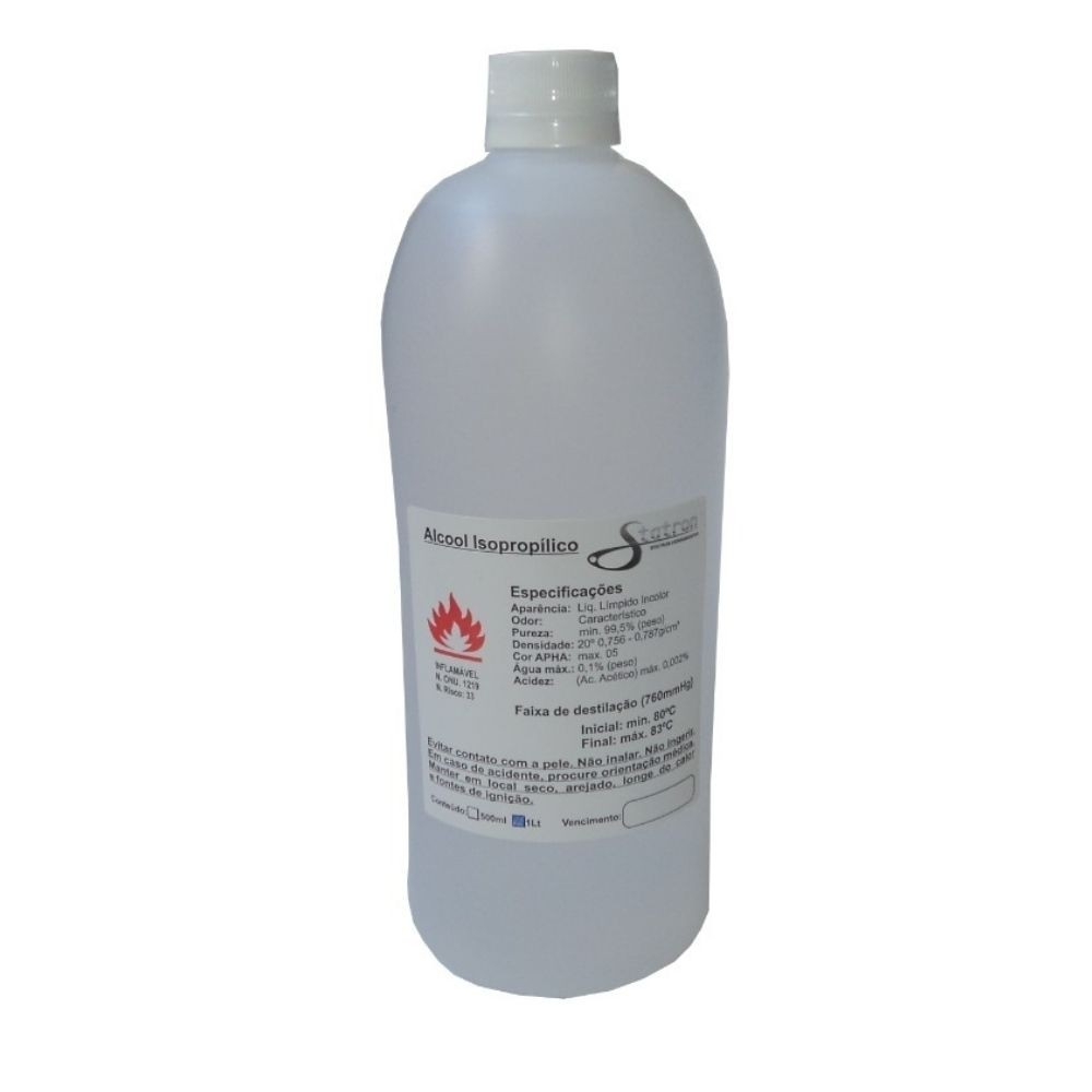 Álcool Isopropílico Limpador de Superfícies 99,8% Statron 500ml