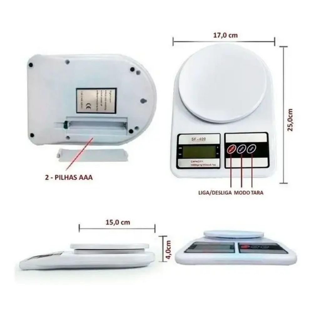 Balança Digital para Cozinha 10kgs  - Casa do Roadie