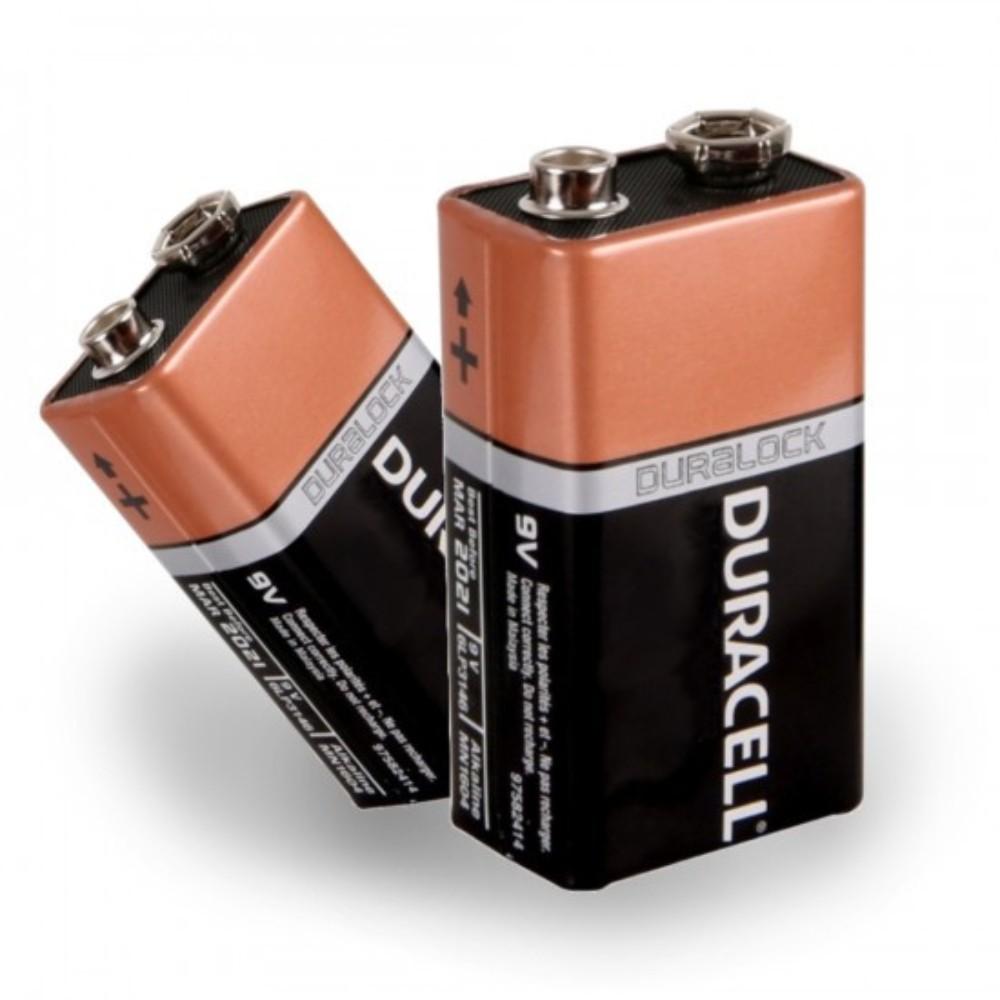 Bateria Alcalina 9V Duracell - 2 Unidades