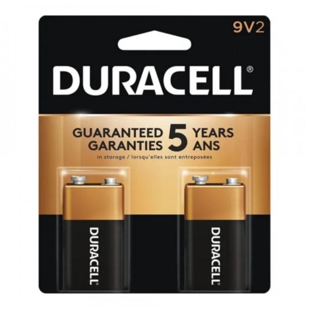 Bateria Alcalina 9V Duracell - 2 Unidades  - Casa do Roadie