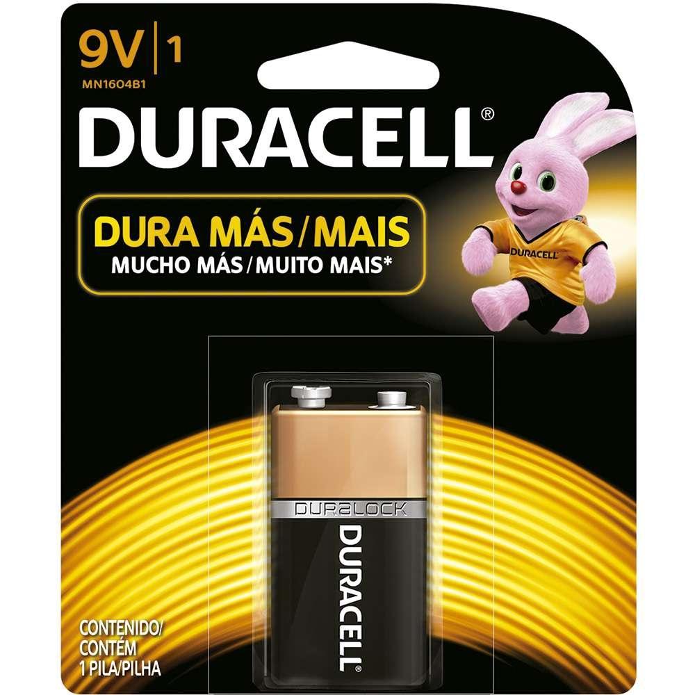 Bateria Alcalina 9V Duracell  - Casa do Roadie
