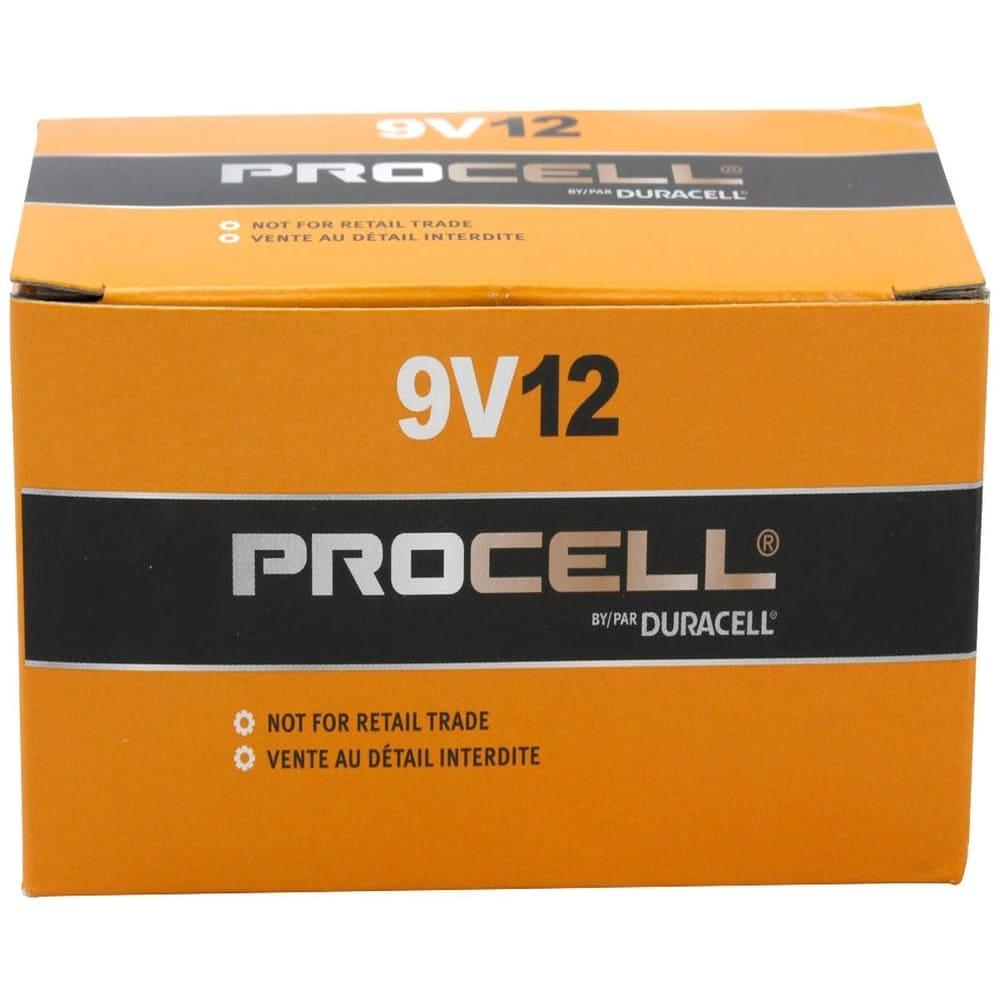 Bateria Alcalina 9V Duracell Procell - Kit com 12