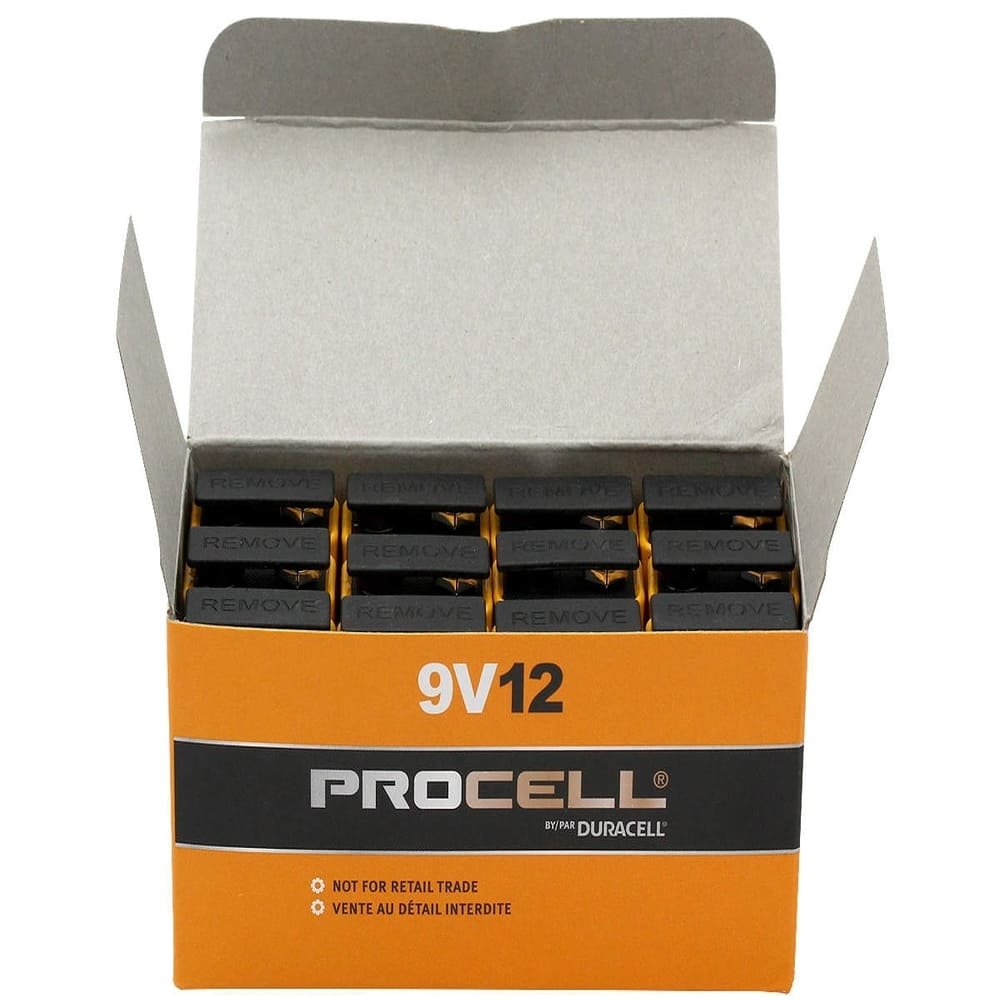 Bateria Alcalina 9V Duracell Procell - Kit com 12  - Casa do Roadie