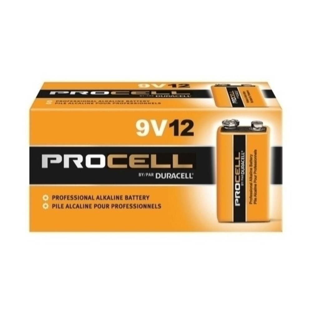 Bateria Alcalina 9V Duracell Procell - Kit com 72