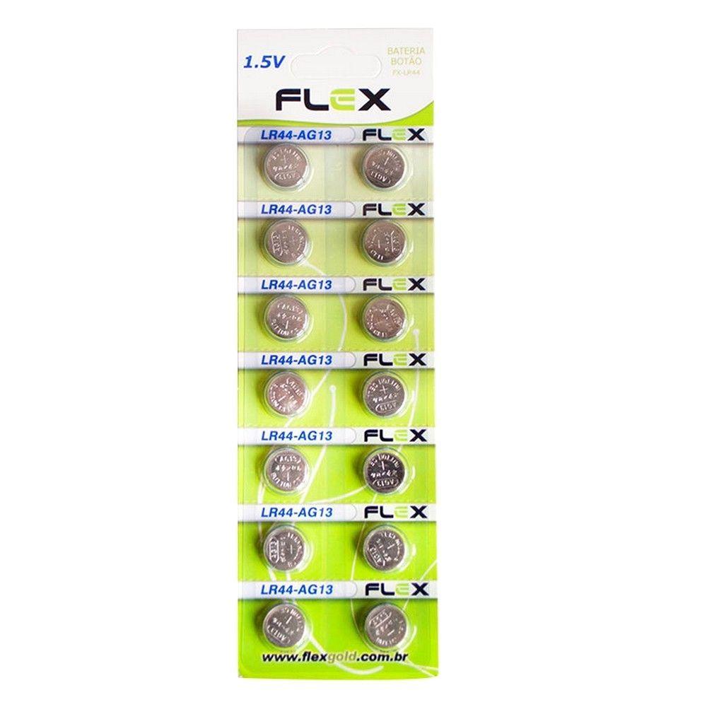 Bateria Alcalina LR44 Flex  - Casa do Roadie