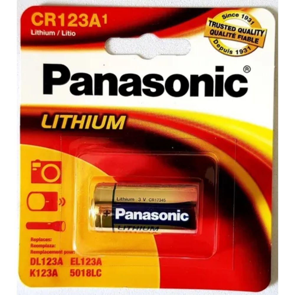 Bateria CR123 Panasonic  - Casa do Roadie
