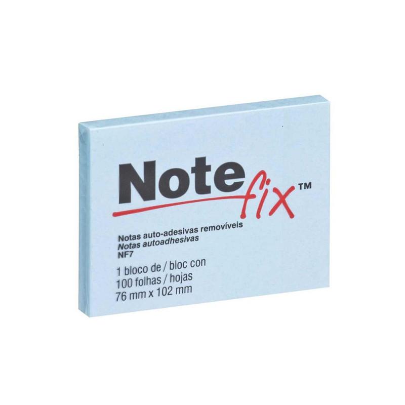 Bloco de Folhas Adesivas Notefix 76mm X 102mm Azul 100 Folhas  - Casa do Roadie