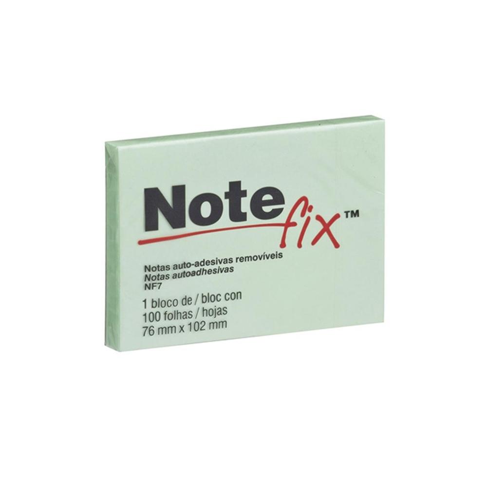 Bloco de Folhas Adesivas Notefix 76mm X 102mm Verde 100 Folhas