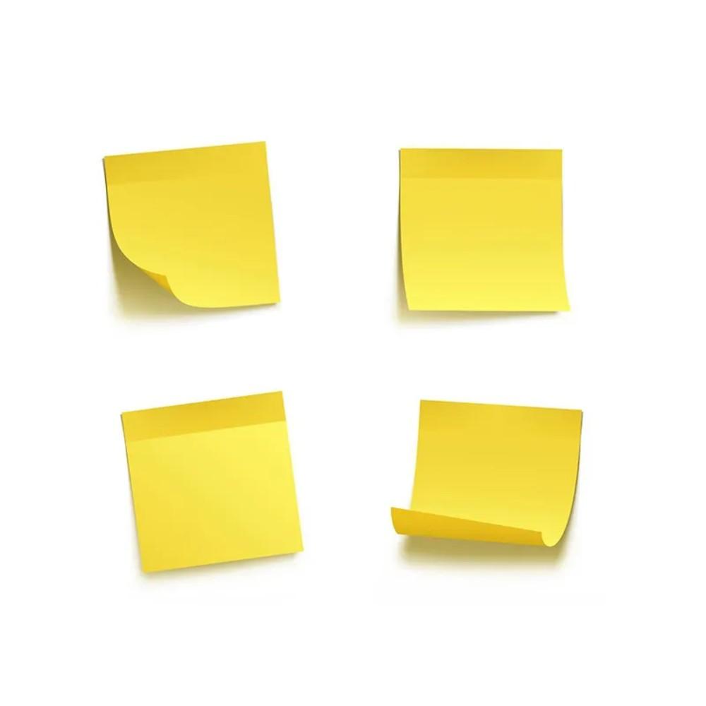 Bloco de Folhas Adesivas Post-It 3M 38mm X 50mm Amarelo - 100 Folhas  - Casa do Roadie