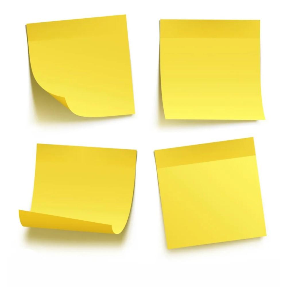 Bloco de Folhas Adesivas Post-It 3M 76mm X 76mm Amarelo - 100 Folhas