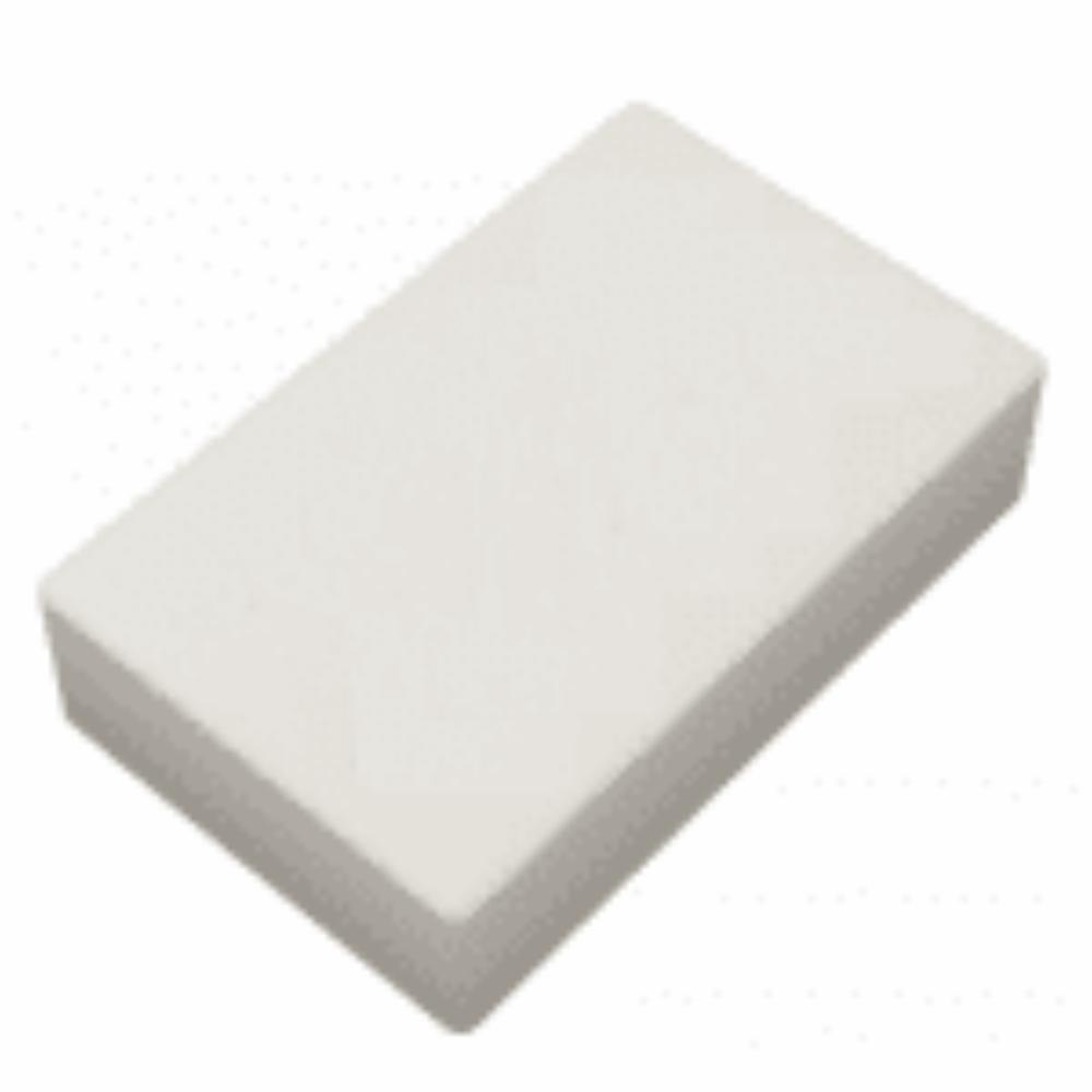 Borracha Quadrada Branca