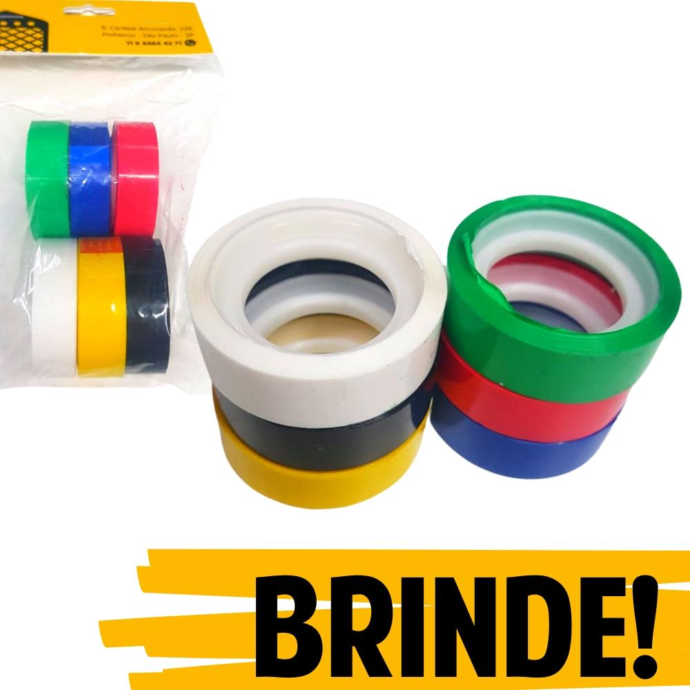 BRINDE | Kit Fitas Plástica Adesiva Colorida Adere