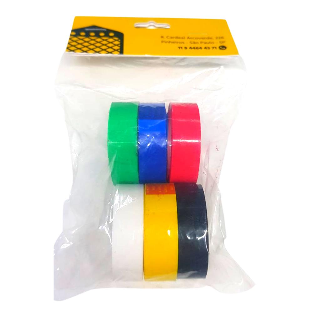 BRINDE | Kit Fitas Plástica Adesiva Colorida Adere  - Casa do Roadie