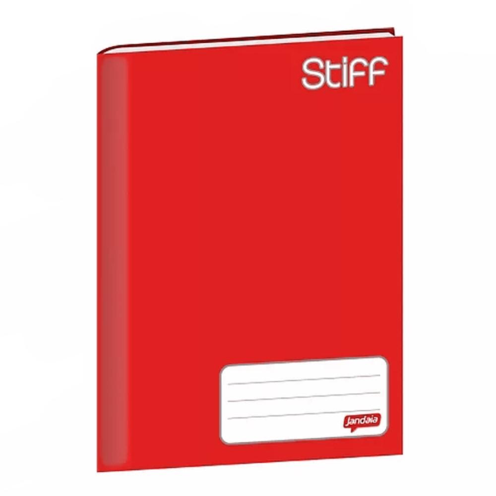 Caderno Brochurão Jandaia 21,48mm X 148mm X 2cm 1 Matéria Vermelho - 96 Folhas