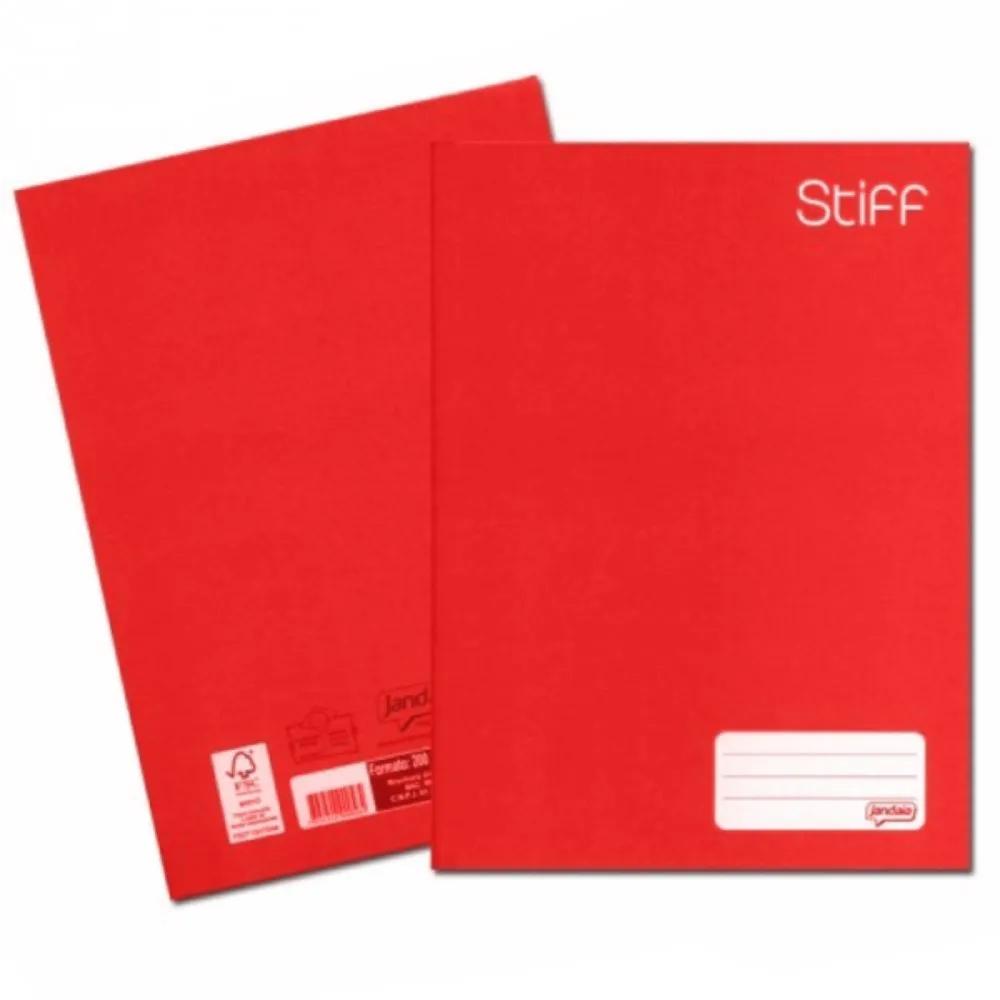Caderno Brochurão Jandaia 21,48mm X 148mm X 2cm 1 Matéria Vermelho - 96 Folhas  - Casa do Roadie