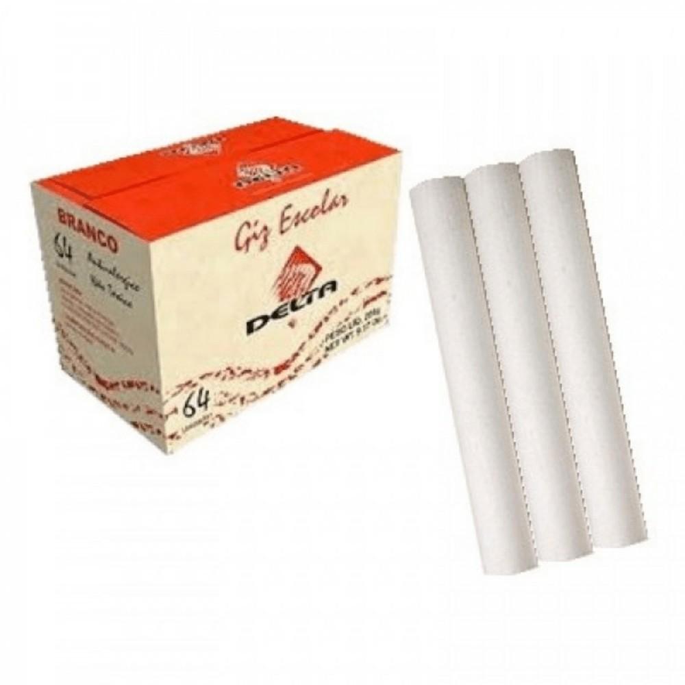 Caixa de Giz Delta Branco - 64 Unidades