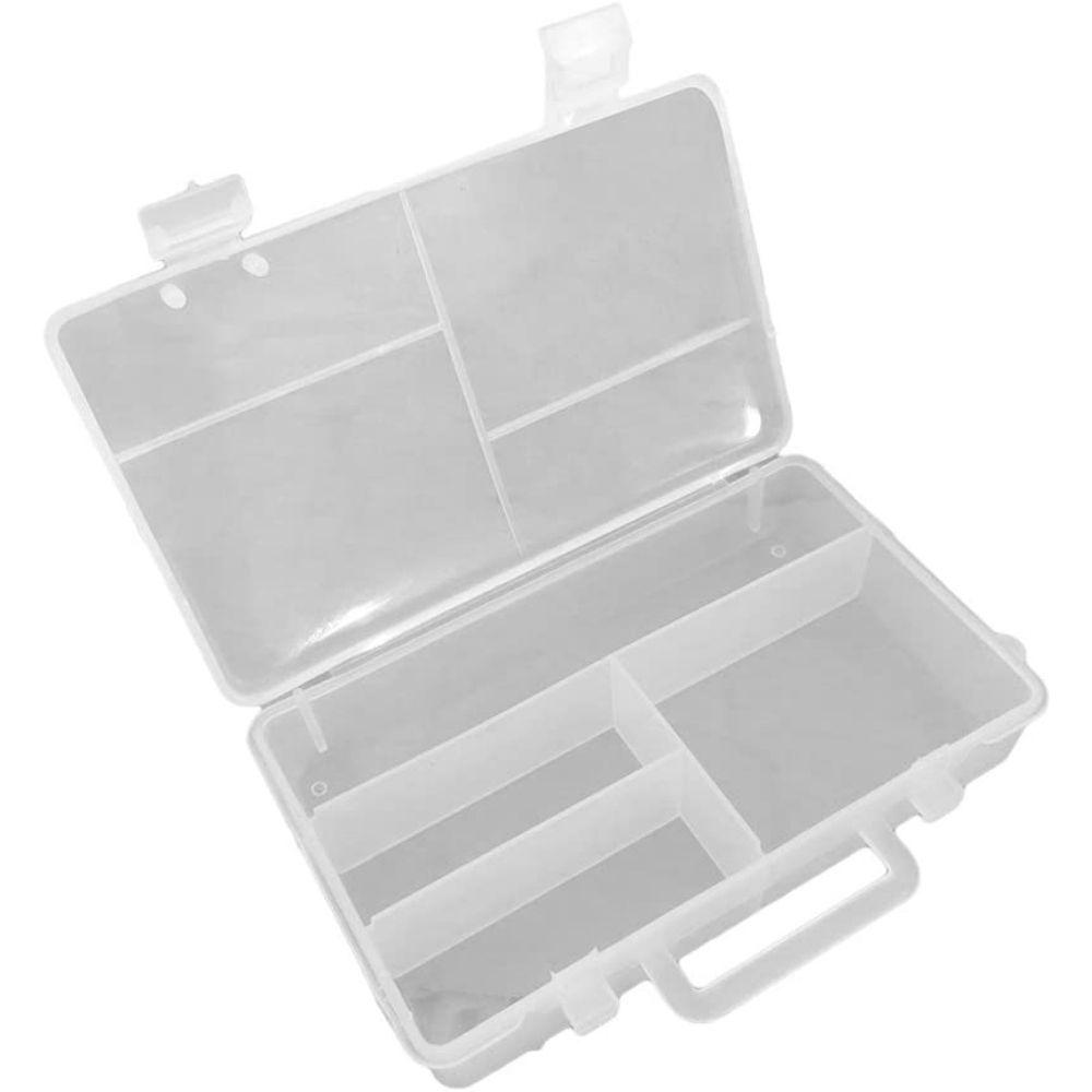 Caixa Organizadora Plástica com divisória 12,5cm X 7,5cm X 2,9cm São Bernardo