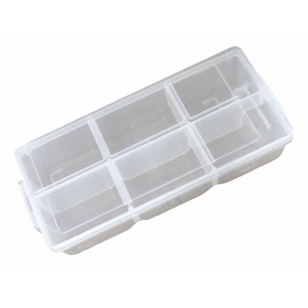 Caixa Organizadora Plástica com divisória 19,5cm X 8,4cm X 4,8cm São Bernardo  - Casa do Roadie