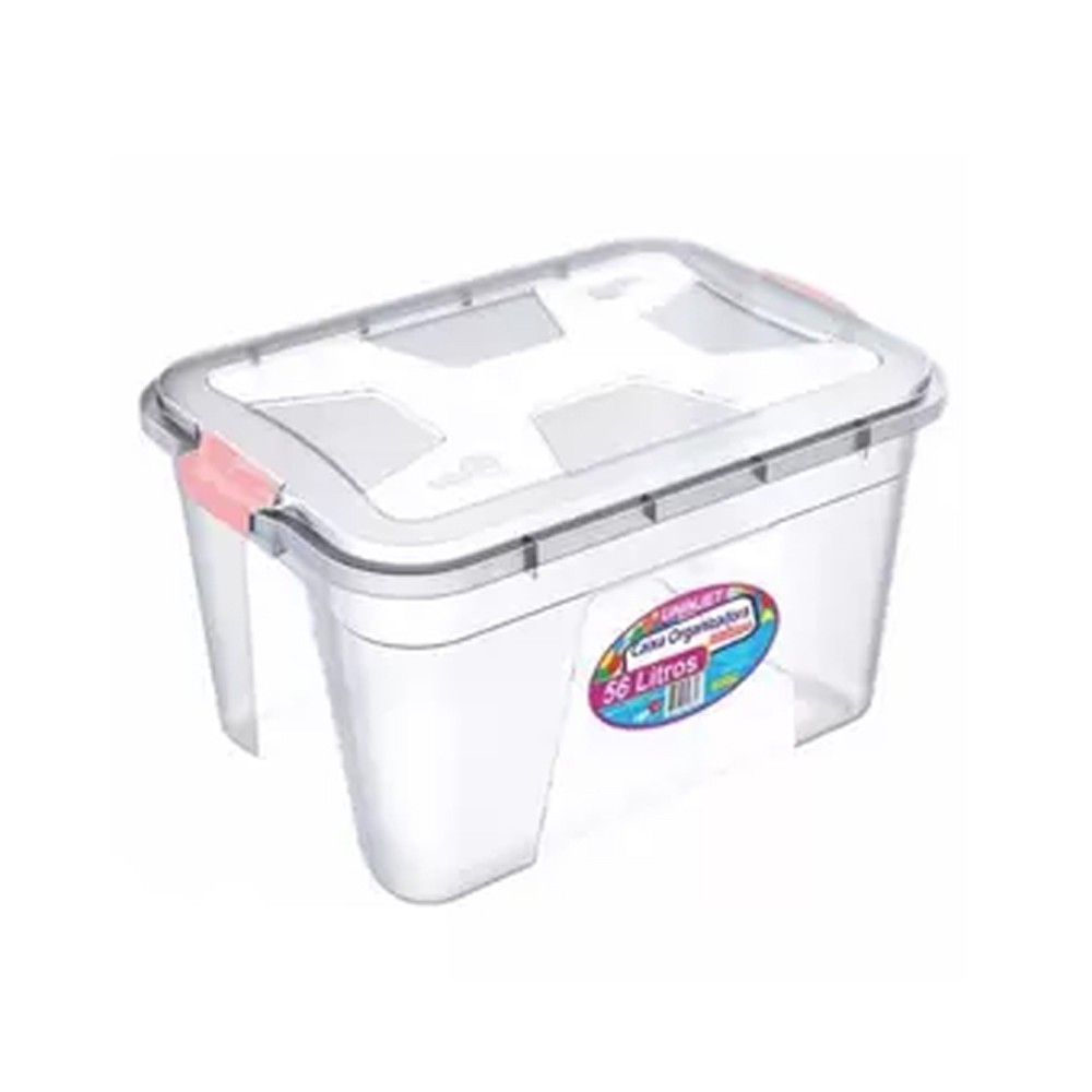 Caixa Organizadora Plástica Uninjet 56 litros