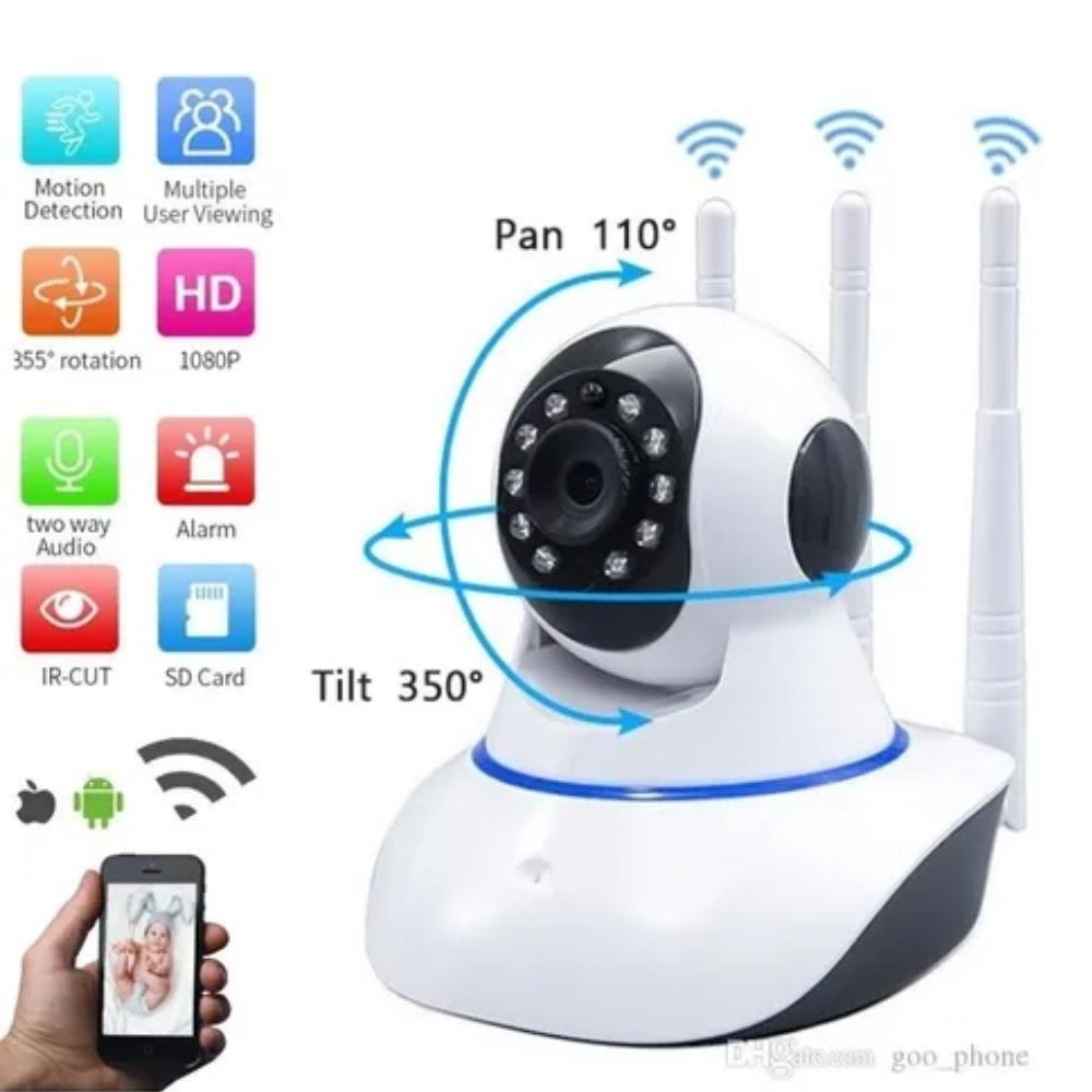 Câmera Eletrônica para Monitoramento WI-FI   - Casa do Roadie