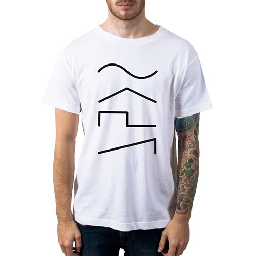Camiseta Casual Audio Wave Casa do Roadie Branca 3G  - Casa do Roadie