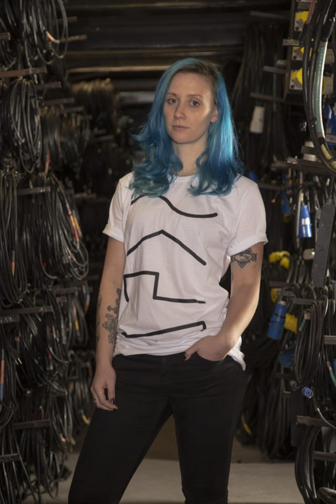 Camiseta Casual Audio Wave Casa do Roadie Branca G  - Casa do Roadie
