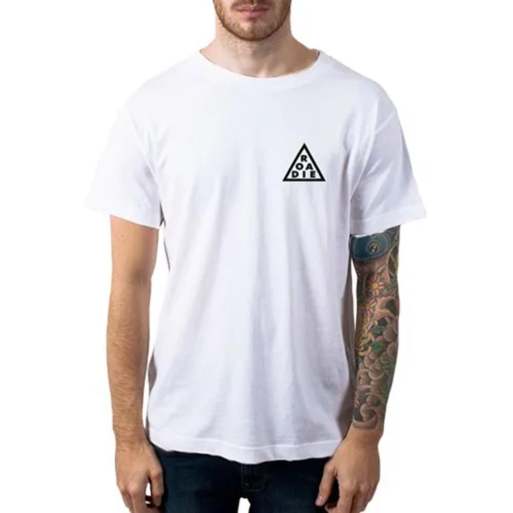 Camiseta Casual Triângulo ROADIE Casa do Roadie Branca M  - Casa do Roadie