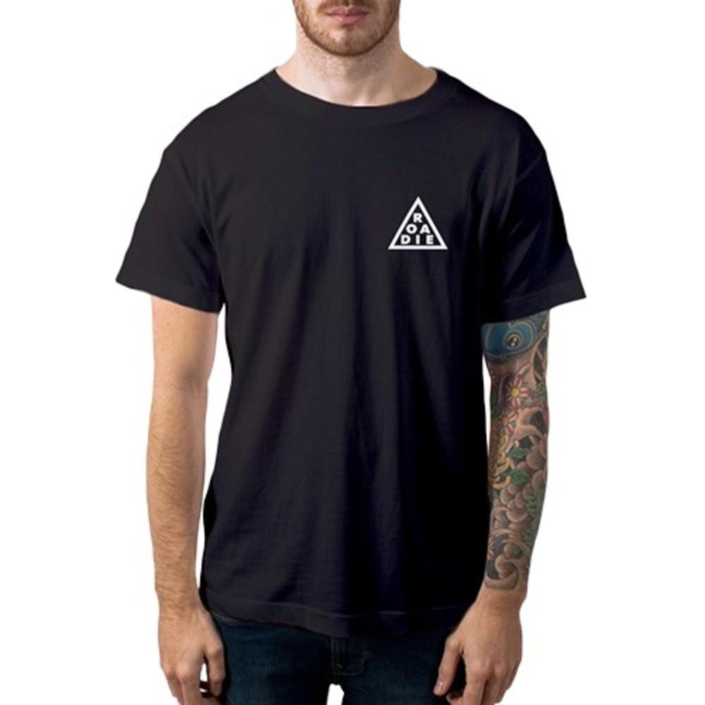 Camiseta Casual Triângulo ROADIE Casa do Roadie Preta 3G