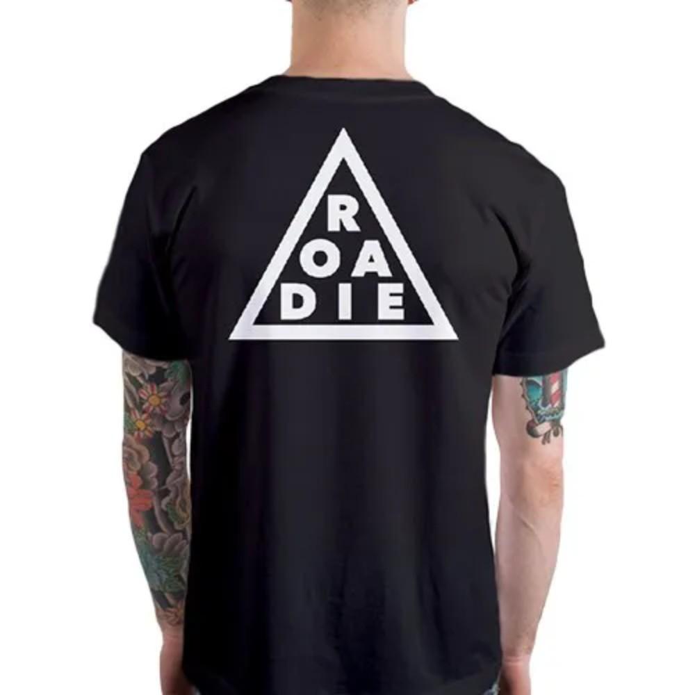 Camiseta Casual Triângulo ROADIE Casa do Roadie Preta P  - Casa do Roadie