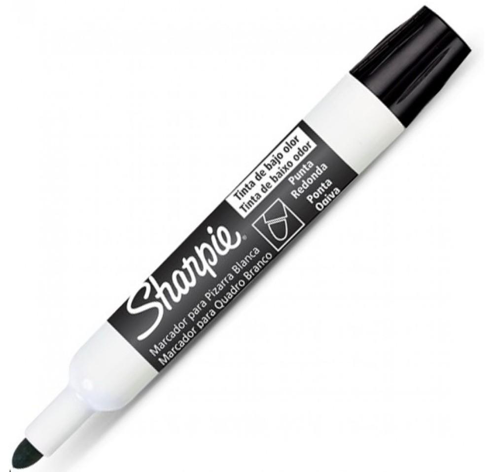 Caneta Marcadora de Quadro Branco Sharpie Preto