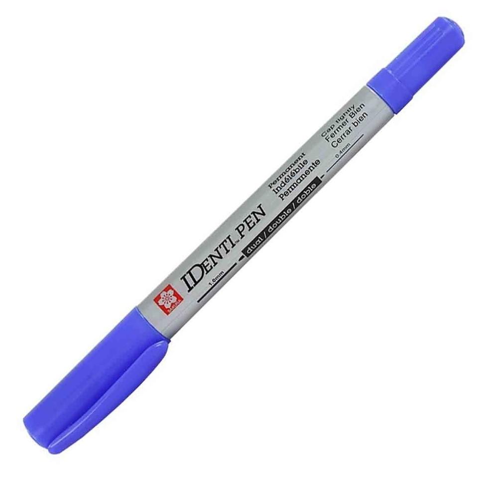 Caneta Marcadora Permanente Identi Pen Sakura Azul
