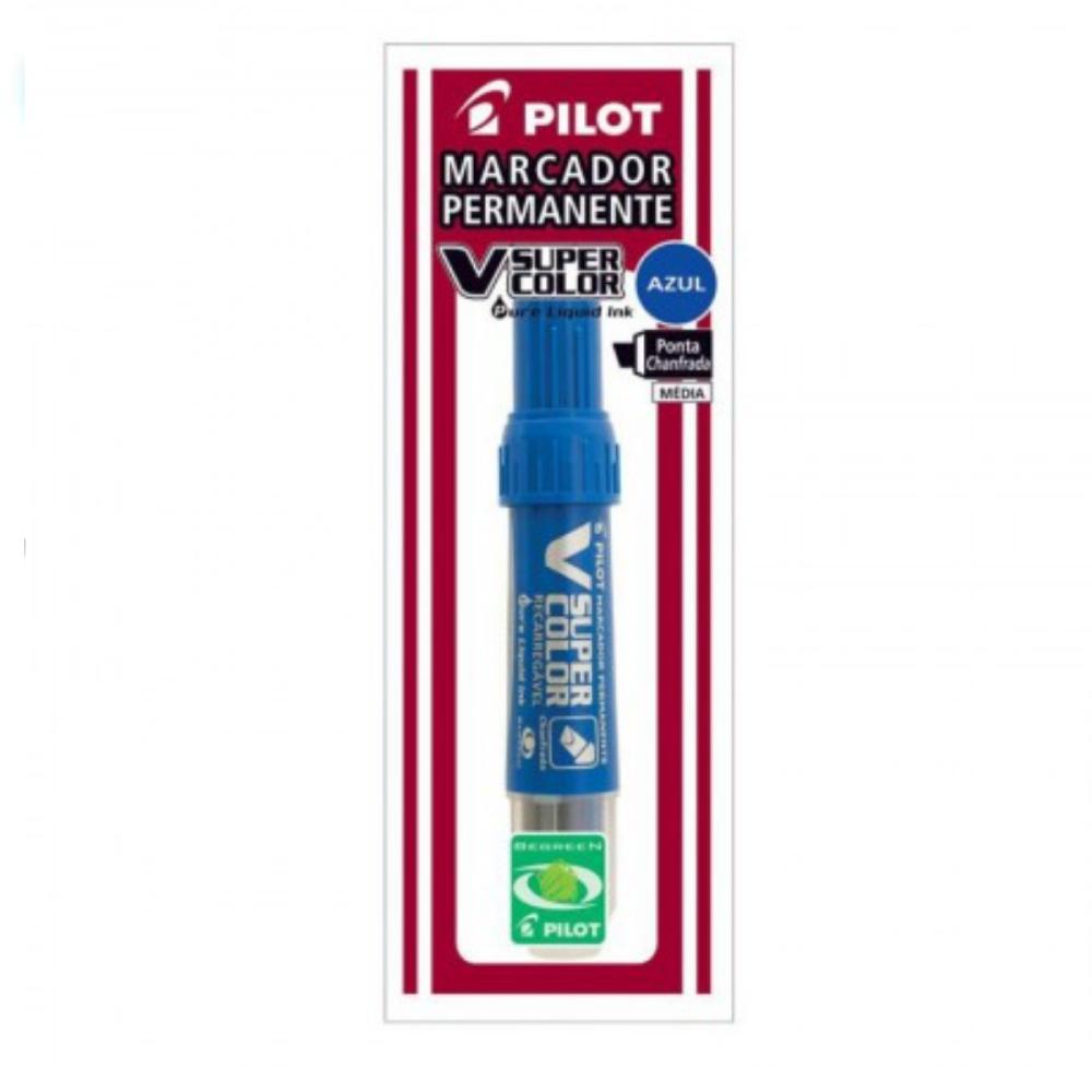 Caneta Marcadora Permanente V Marker Pilot Azul  - Casa do Roadie