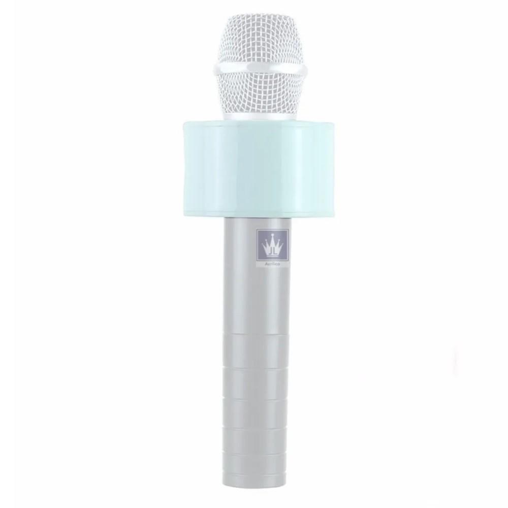 Canopla de Acrílico para Microfone Redonda Branca