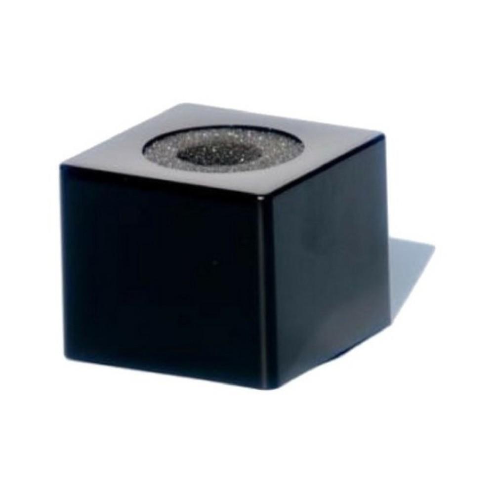 Canopla de Acrílico para Microfones Cubo 6cm x 6cm x 5cm Preta