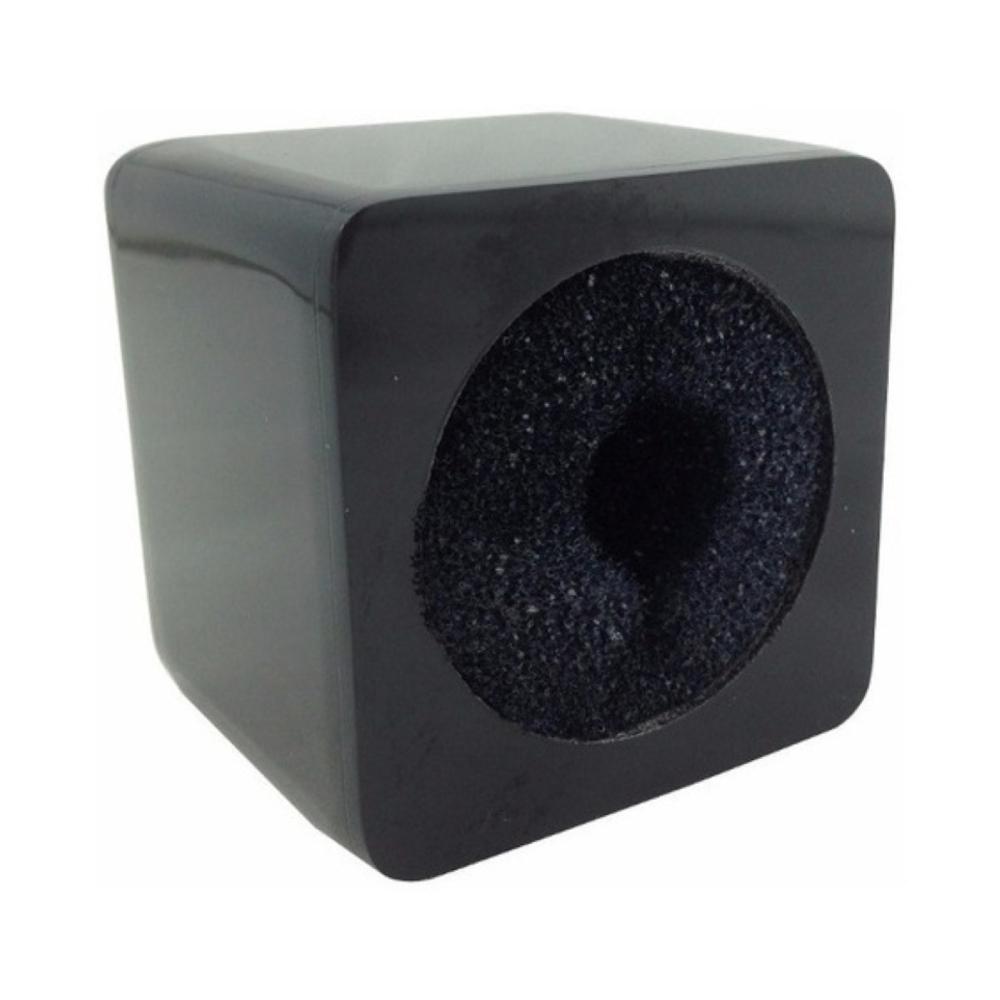 Canopla de Acrílico para Microfones Cubo 6cm x 6cm x 5cm Preta  - Casa do Roadie